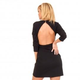 Μαύρο Mini Φόρεμα με Άνοιγμα στην Πλάτη