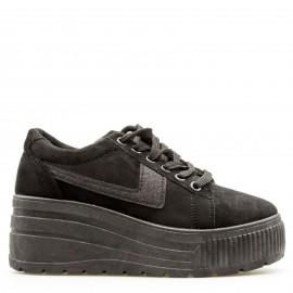 Μαύρα Δίπατα Sneakers με Glitter