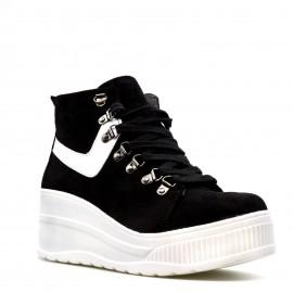 Μαύρα Δίπατα Μποτάκια Sneakers