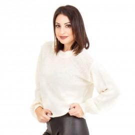 Λευκή Μπλούζα με Πέρλες
