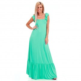 Βεραμάν Maxi Φόρεμα με Βολάν στο Μανίκι