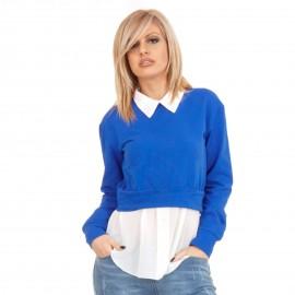 Μπλε Μπλουζοπουκάμισο με Πέρλες