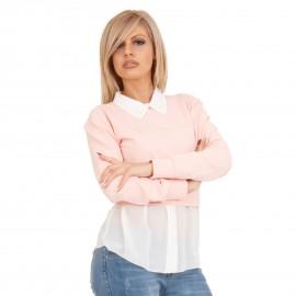 Ρόζ Μπλουζοπουκάμισο με Πέρλες