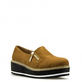 Camel Καστόρινα Slip Ons με Φερμουάρ