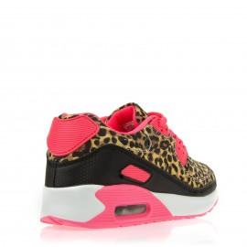 Λεοπάρ Sneakers με Ροζ Λεπτομέρειες