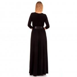 Μαύρο Maxi Φόρεμα με Σκίσιμο στο Πλάι