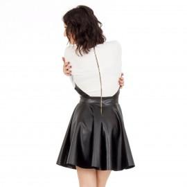 Λευκό Μini Φόρεμα με Άνοιγμα στο Πλάι