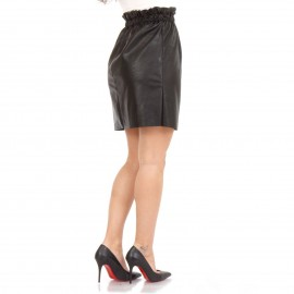 Μαύρη Ματ Mini Φούστα