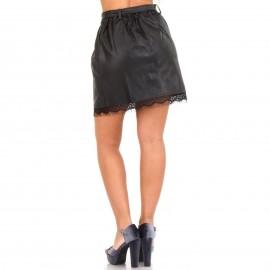 Μαύρη Mini Φούστα με Δαντέλα