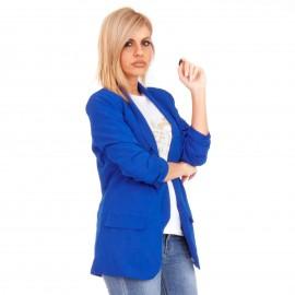 Μπλε Ρουά Σακάκι με Βάτες
