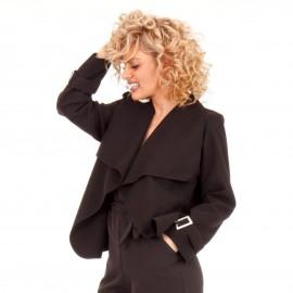 Μαύρο Κοντό Παλτό