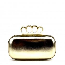 Χρυσό Clutch Τσαντάκι με Σχέδιο στο Κούμπωμα