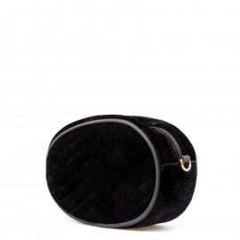 Μαύρο Βελούδινο Belt Bag