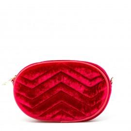 Κόκκινο Βελούδινο Belt Bag