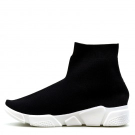 Μαύρα Sneakers με Λάστιχο