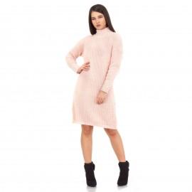 Ροζ Μπλουζοφόρεμα με Πέρλες