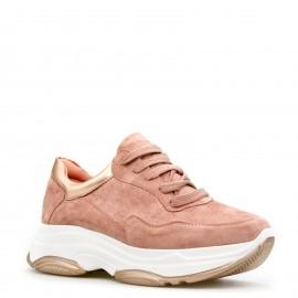 Ροζ Sneakers με Χρυσές Λεπτομέρειες