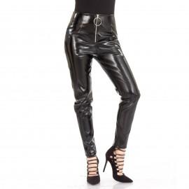 Μαύρο Παντελόνι με Φερμουάρ
