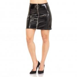 Μαύρη Mini Φούστα με Φερμουάρ
