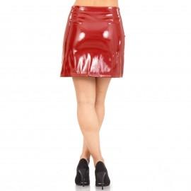 Μπορντό Mini Φούστα με Φερμουάρ