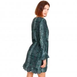 Πράσινο Φίδι Mini Φόρεμα