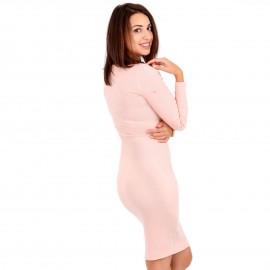 Ρόζ Ripped Midi Φόρεμα