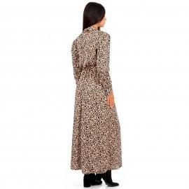 Λεοπάρ Maxi Φόρεμα με Ζωνάκι