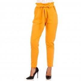 Κίτρινο Ψηλόμεσο Παντελόνι