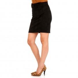 Μαύρη Σουέτ Mini Φούστα