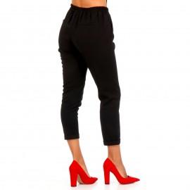 Μαύρο Υφασμάτινο Παντελόνι