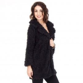 Μαύρο Fluffy Jacket