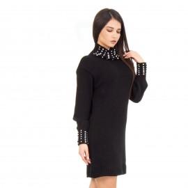 Μαύρο Μπλουζοφόρεμα με Πέρλες