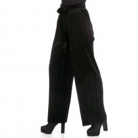 Μαύρο Πλισέ Παντελόνι με Ζωνάκι