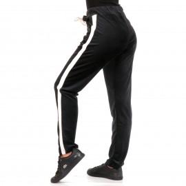 Μαύρο Βελούδινο Παντελόνι Φόρμα Με Ρίγα