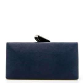 Μπλε Clutch Τσαντάκι με Σχέδιο στο Κούμπωμα