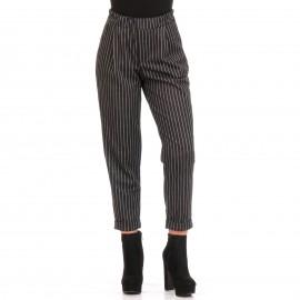 Μαύρο Παντελόνι με Ρίγες