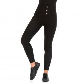 Μαύρο Παντελόνι με Διακοσμητικά Κουμπιά