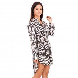 Ζεβρέ Mini Φόρεμα με Ζωνάκι