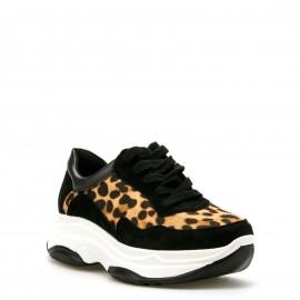 Λεοπάρ Sneakers με Μαύρες Λεπτομέρειες