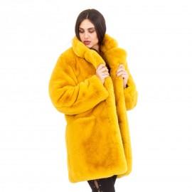 Κίτρινη Μακρυμάνικη Γούνα