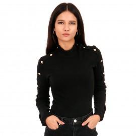 Μαύρη Μπλούζα με Κουμπιά