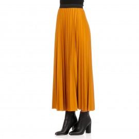 Κίτρινη Πλισέ Maxi Φούστα