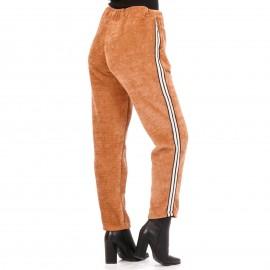 Camel Βελούδινο Παντελόνι Φόρμα Με Ρίγα