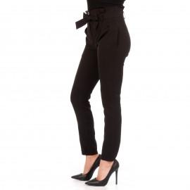 Μαύρο Ψηλόμεσο Παντελόνι με Ζωνάκι