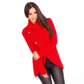 Κόκκινη Πλεκτή Μπλούζα