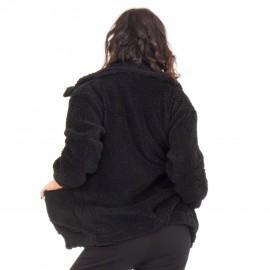 Μαύρη Fluffy Ζακέτα