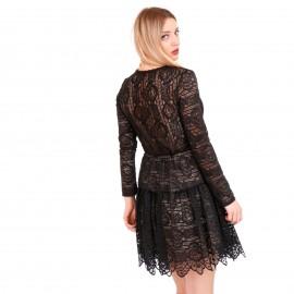 Μαύρο Μini Φόρεμα με Δαντέλα