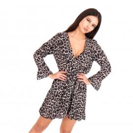 Λεοπάρ Mini Φόρεμα