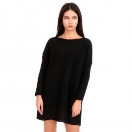 Μαύρο Πλεκτό Μπλουζοφόρεμα