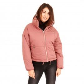 Ρόζ Puffer Jacket